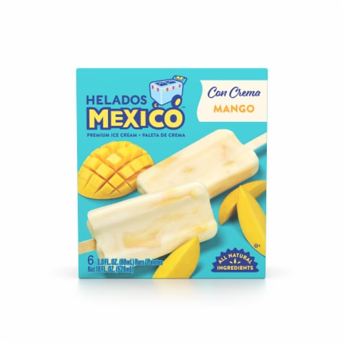 Helados Mango Fruit Ice Cream Bars Perspective: front