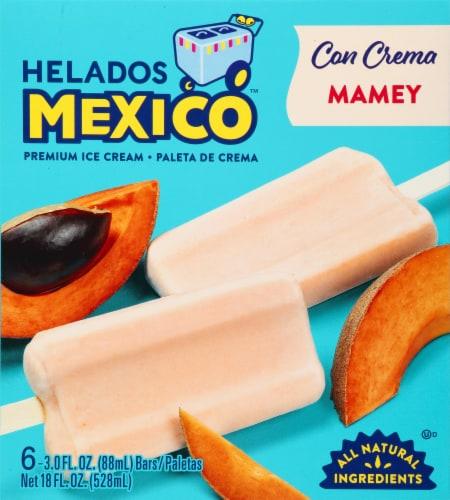 Helados Mexico Mamey Premium Ice Cream Bars 6 Count Perspective: front