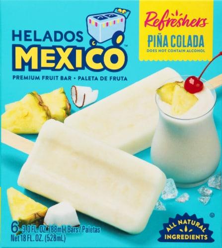 Helados Mexico Refreshers Pina Colada Paletas Fruit Bars Perspective: front