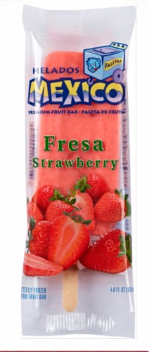 Helados Mexico Fresa Strawberry Fruit Bar Perspective: front
