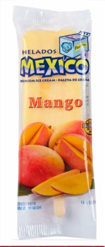 Helados Mexico Mango Ice Cream Bar Perspective: front