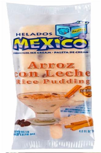 Helados Mexico Rice Pudding Premium Ice Cream Bar Perspective: front