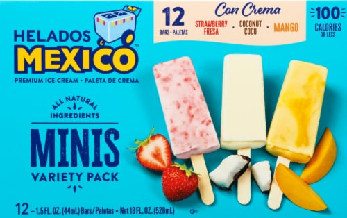 Helados Mexico Mini Ice Cream Bar Variety Pack Perspective: front