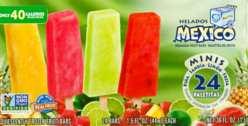 Helados Mexico Mini Frozen Fruit Bars Variety Pack Perspective: front