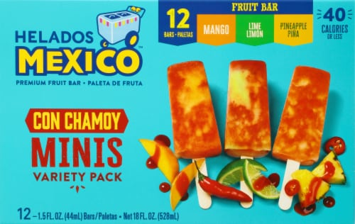 Helados Mexico Fresa Strawberry Premium Fruit Bars 6 Count Perspective: front