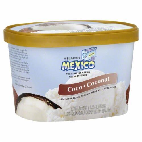Helados de Mexico Coconut Ice Cream Perspective: front