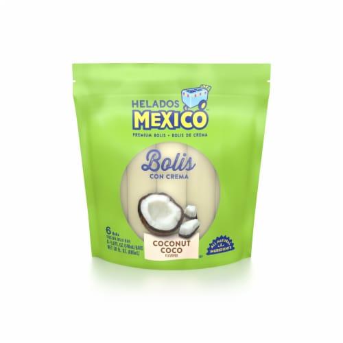 Helados Mexico Coconut Bolis 6 Count Perspective: front