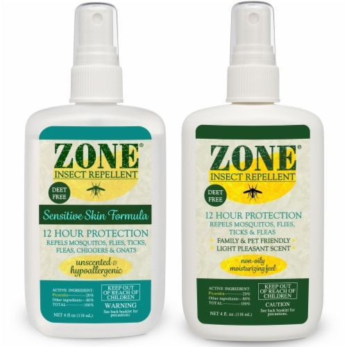 Zone Repellents 101-04B2 His & Hers Insect Repellent Spray Pack Perspective: front