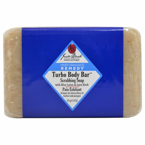 Jack Black Turbo Body Bar Scrubbing Soap 6 oz Perspective: front