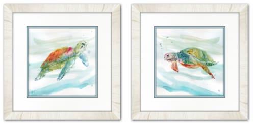 Streamline Art Framed and Matted Art Set of 2 - Turtles Perspective: front