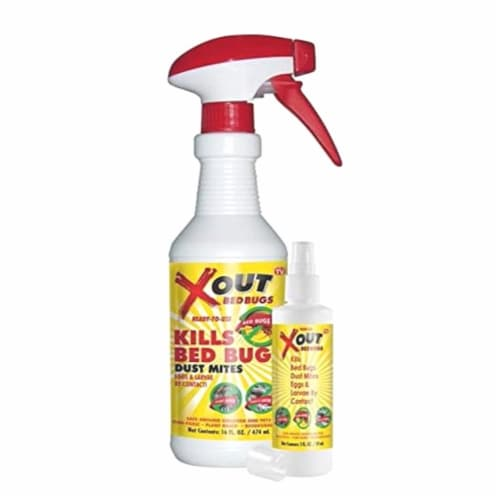 XOUT Bed Bug Spray by Fabriclear,  16 oz. Perspective: front