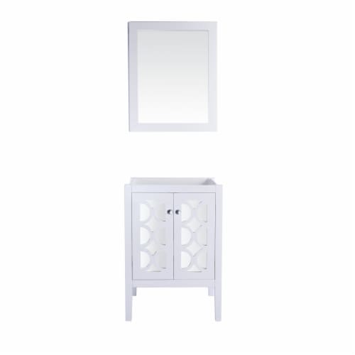 Mediterraneo - 24 - White Cabinet Perspective: front