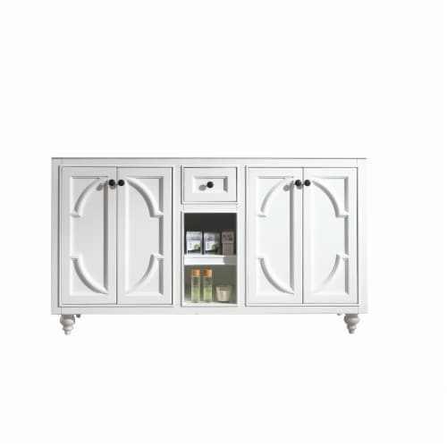 Odyssey - 60 - White Cabinet Perspective: front