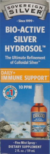 Sovereign Silver Immune Support Fine-Mist Spray Perspective: front