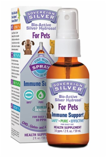 Natural Immunogenics Sovereign Silver Bio-Active Silver Hydrosol For Pets Immune Support Perspective: front