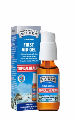 Sovereign Silver First Aid Gel Perspective: front
