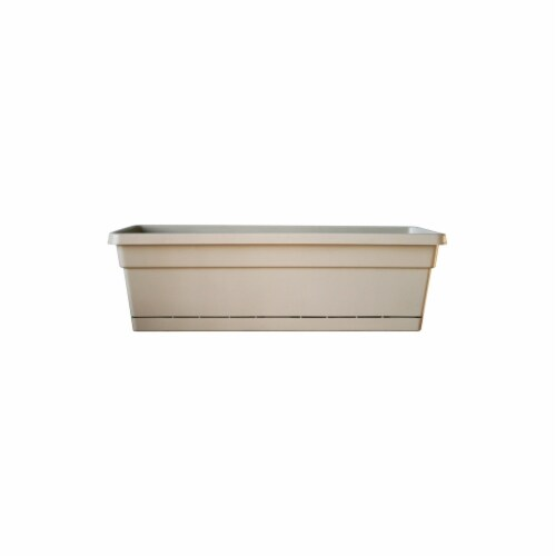 Southern Patio WB2412OT 24 in. Tan Oxford Window Box Pack Of 12 Perspective: front