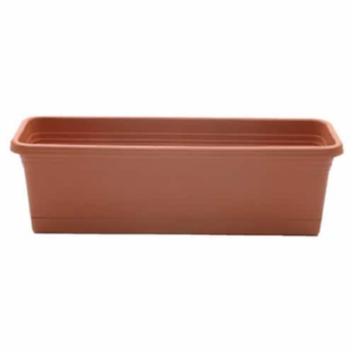ATT Southern 259810 24 in. Light Terra Cotta Wind Box Planter Perspective: front