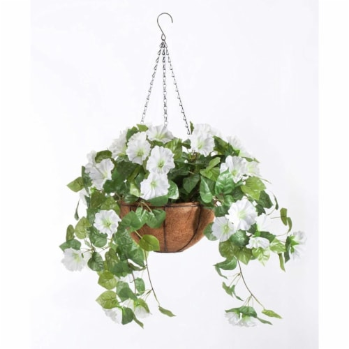 ATT Southern 259808 10 in. Weave Hang Basket, Light Terra Cotta Perspective: front