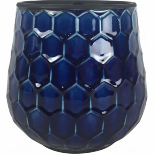 Southern Patio CRM-047087 8 in. Honeycomb Planter, Cobalt Perspective: front