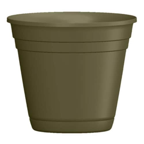 ATT Southern 256811 4 in. Riverl Planter, Olive Green Perspective: front
