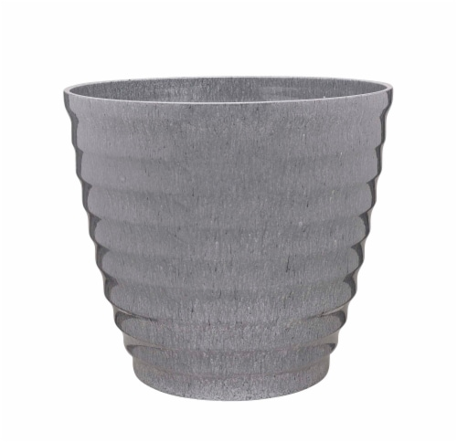 Southern Patio® Beehive Planter with Saucer - Gray Perspective: front