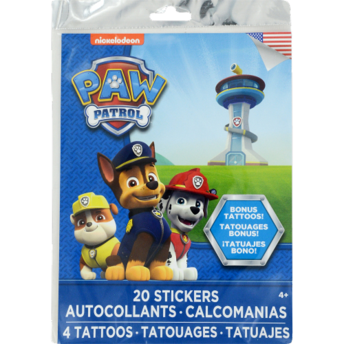 Nickelodeon Paw Patrol Stickers with Tattoos Perspective: front