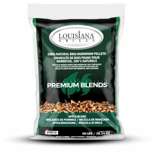 Lousiana Grill All Natural Apple Wood Pellets 40 lb. - Case Of: 1; Perspective: front