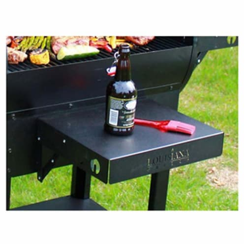 Dansons 56205 12 x 14.5 in. Grill Side Shelf, Black Perspective: front