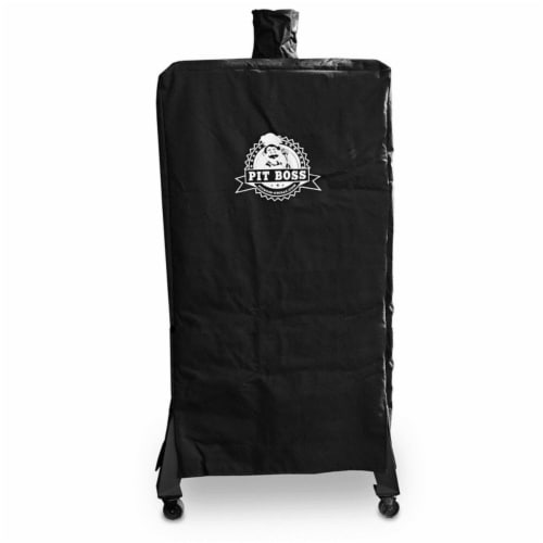 Pit Boss Black Smoker Cover For Pit Boss Vertical Seven Series Wood Pellet Smoker 30 in. W x Perspective: front
