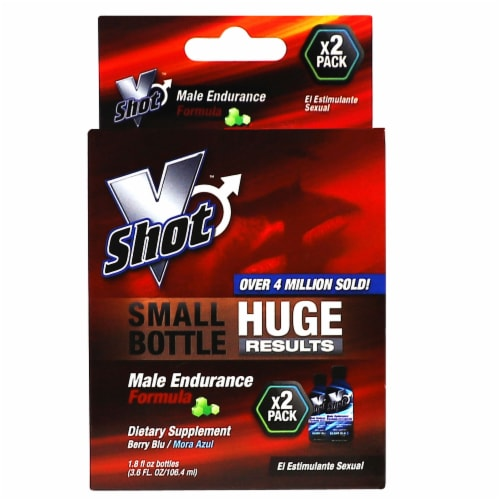United 1 Laboratories VShot Male Endurance Dietary Supplement Perspective: front