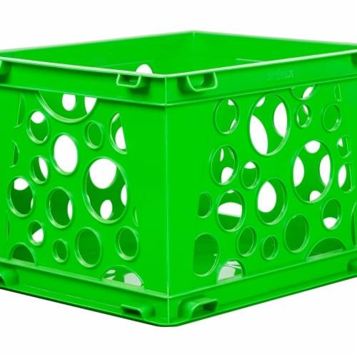 Mini Crate, School Green Perspective: front