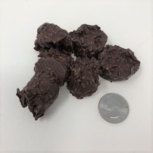 Gourmet Sugar Free Coconut Clusters Dark Chocolate Candy 1 pound Perspective: front