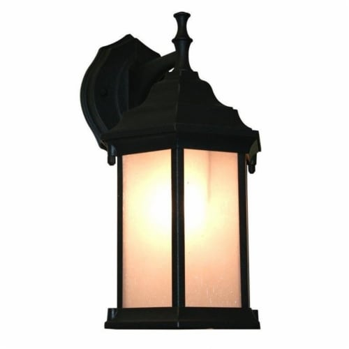 1 Light Outdoor Wall Light T21-BK-F Perspective: front