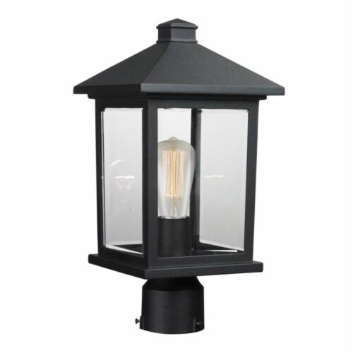 1 Light Post Mount Light 531PHMR-BK Perspective: front