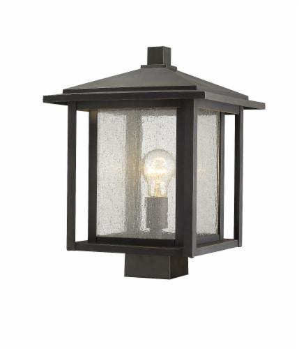 1 Light Outdoor Post Mount Fixture - 554PHBS-ORB Perspective: front