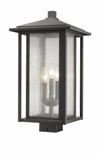 3 Light Outdoor Post Mount Fixture - 554PHXLS-ORB Perspective: front