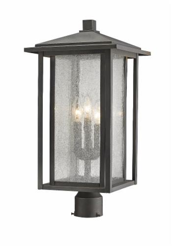 3 Light Outdoor Post Mount Fixture - 554PHXLR-ORB Perspective: front