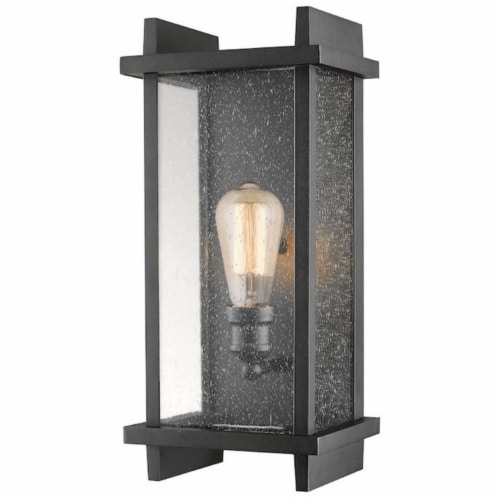 1 Light Outdoor Wall Sconce - 565M-BK Perspective: front