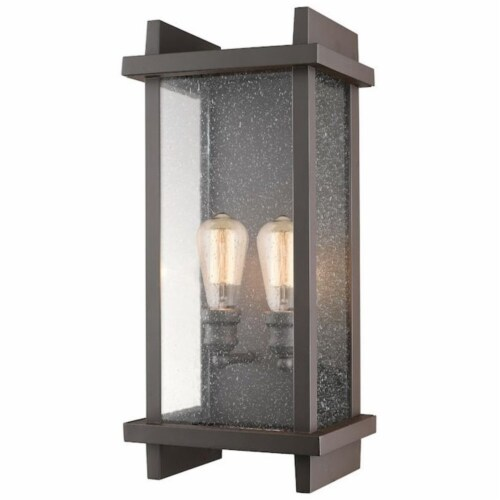 2 Light Outdoor Wall Sconce - 565B-DBZ Perspective: front