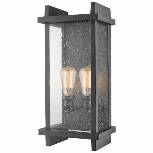 2 Light Outdoor Wall Sconce - 565B-BK Perspective: front