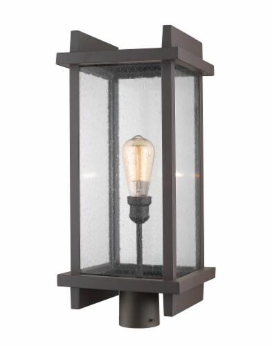 1 Light Outdoor Post Mount Fixture - 565PHBR-DBZ Perspective: front