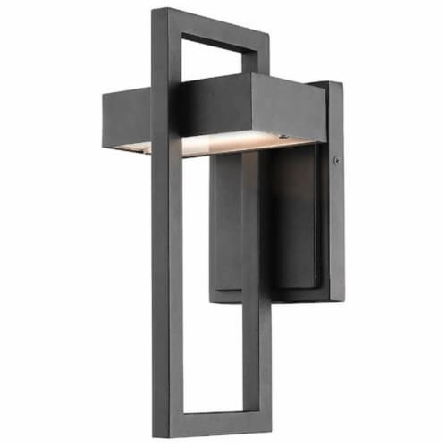 1 Light Outdoor Wall Sconce - 566S-BK-LED Perspective: front