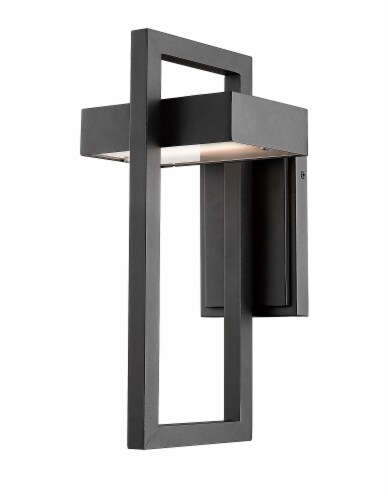 1 Light Outdoor Wall Sconce - 566M-BK-LED Perspective: front