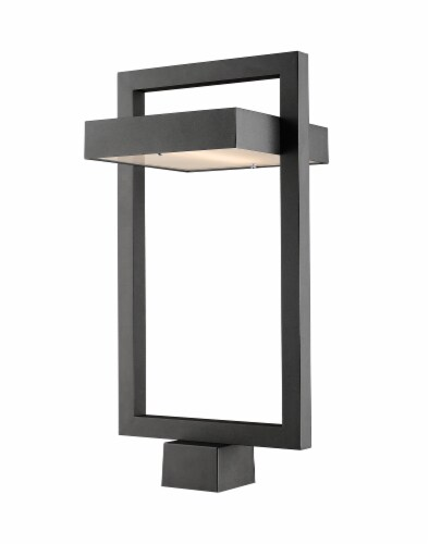 1 Light Outdoor Post Mount Fixture - 566PHBS-BK-LED Perspective: front