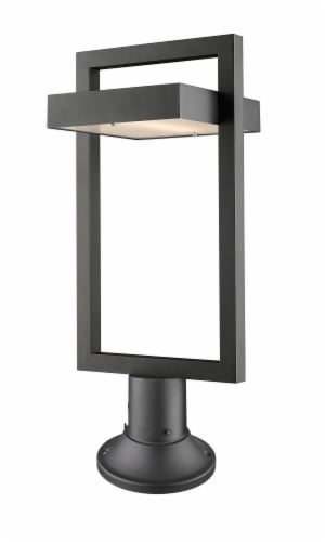 1 Light Outdoor Pier Mounted Fixture - 566PHBR-553PM-BK-LED Perspective: front