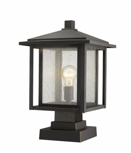 1 Light Outdoor Pier Mounted Fixture - 554PHBS-SQPM-ORB Perspective: front