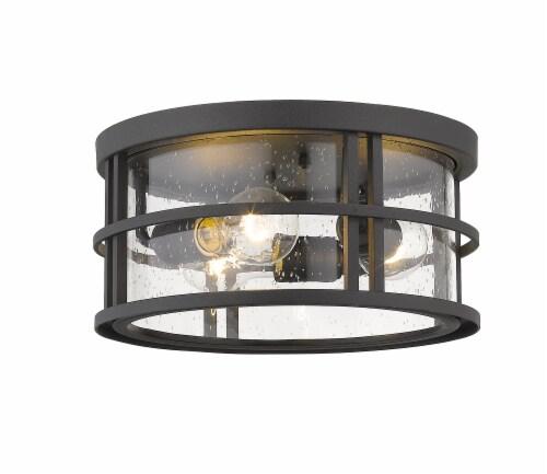 Jordan 3 Light Outdoor Flush Ceiling Mount Fixture Clear Seedy Perspective: front