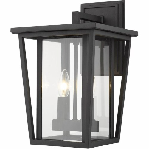 Seoul 2 Light Outdoor Wall Sconce Clear Perspective: front
