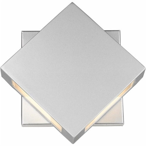 Quadrate 2 Light Outdoor Wall Sconce Sand-blast glass Perspective: front